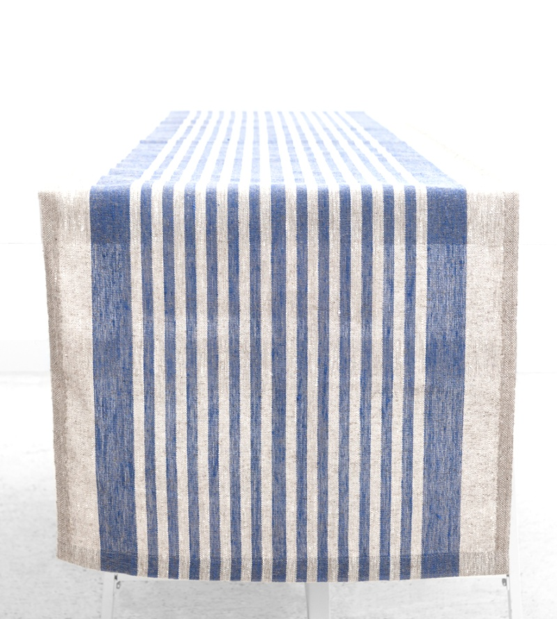 linen runners for tables | Striped Linen Table Runner | Home Decor | linen runners for tables