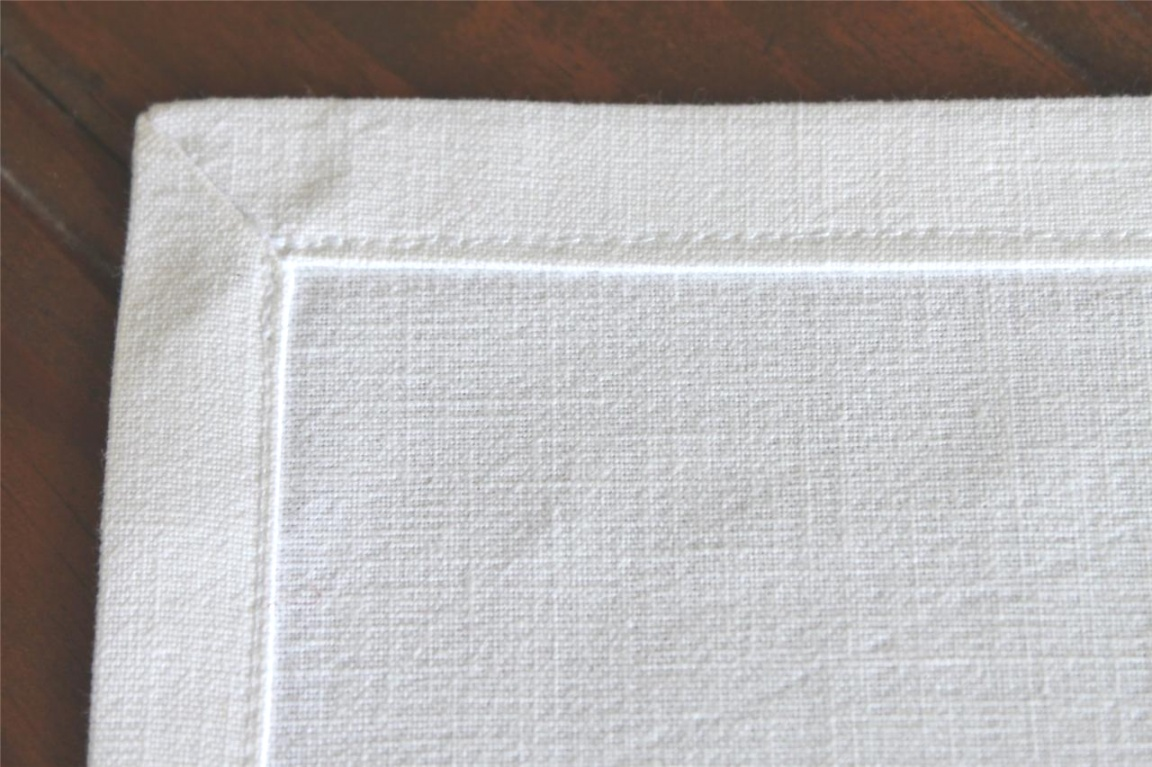 monogrammed table linens | Table Linen Napkins Serviettes Made With Vintage French Metis ..