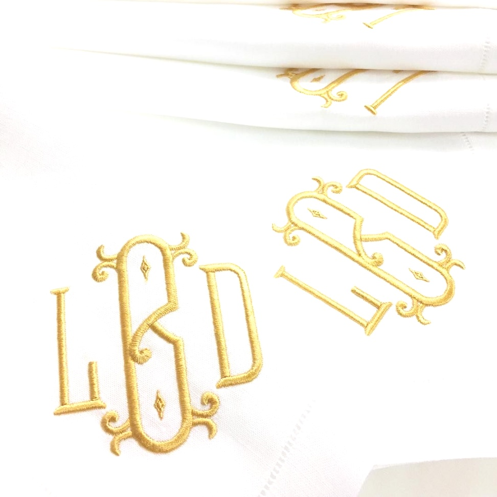 monogrammed table linens | Exquisite embroidered monogrammed table linens are the perfect and ..