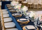 extra long tablecloth navy blue plastic tablecloth blue wedding ideas