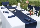 fetching navy blue tablecloths brand luxury satin table runner elegant runners cloth plastic apply to your tablecloth
