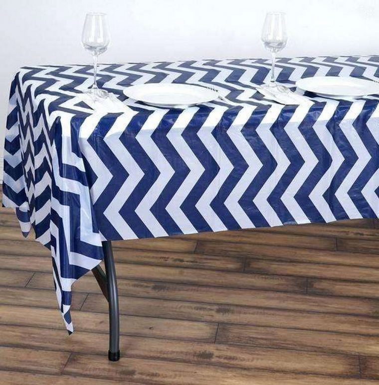 navy-plastic-tablecloth-x-disposable-chevron-vinyl-blue-striped-extra long tablecloth