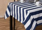 navy table clothes navy blue tablecloth rental white line color with cup and bowl