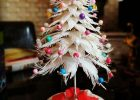 tabletop christmas tree white mini tabletop christmas tree 4