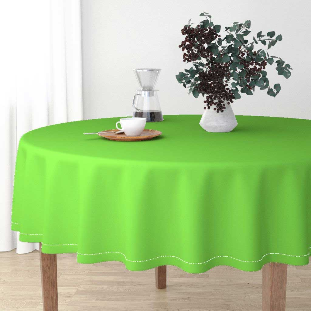 Different Kinds of Lime Green Round Tablecloth You Should Know